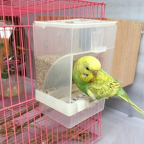 Yunhigh Comedero para pájaros Automático, Caja de Comida para ...