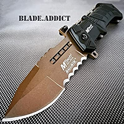M-Tech BALLISTIC ARMY Bronze Tactical Military Spring Assisted Open Pocket Knife