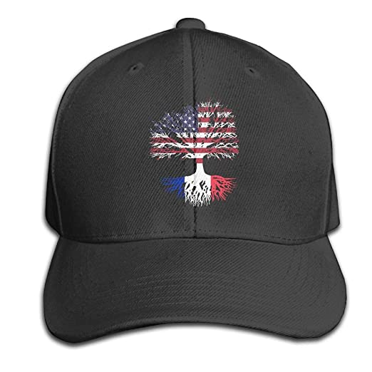 d38b9d7f Amazon.com: PUREYS-I Adult Funny American Grown France Roots Hunting Print  Cool Cap: Clothing