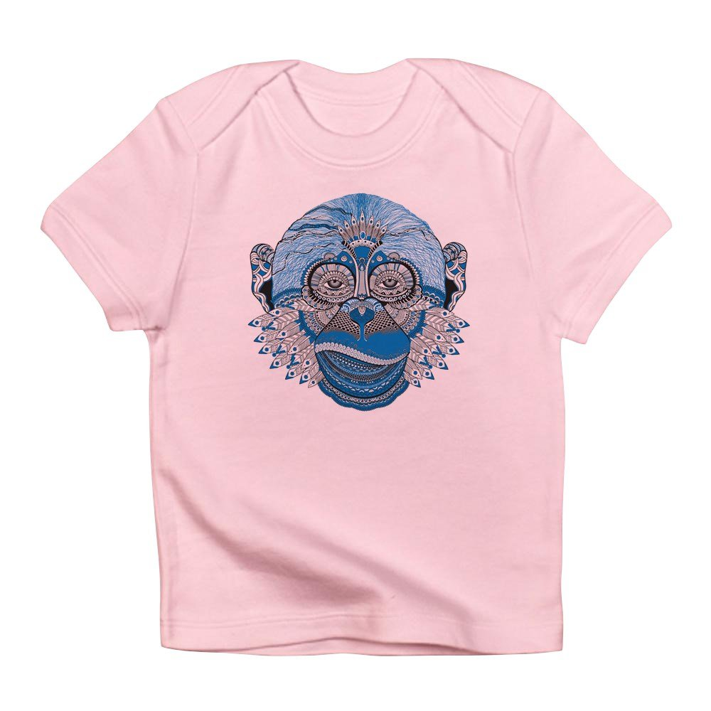 18 To 24 Months Petal Pink Truly Teague Infant T-Shirt Chinese New Year Monkey 2016 Lucky Blue