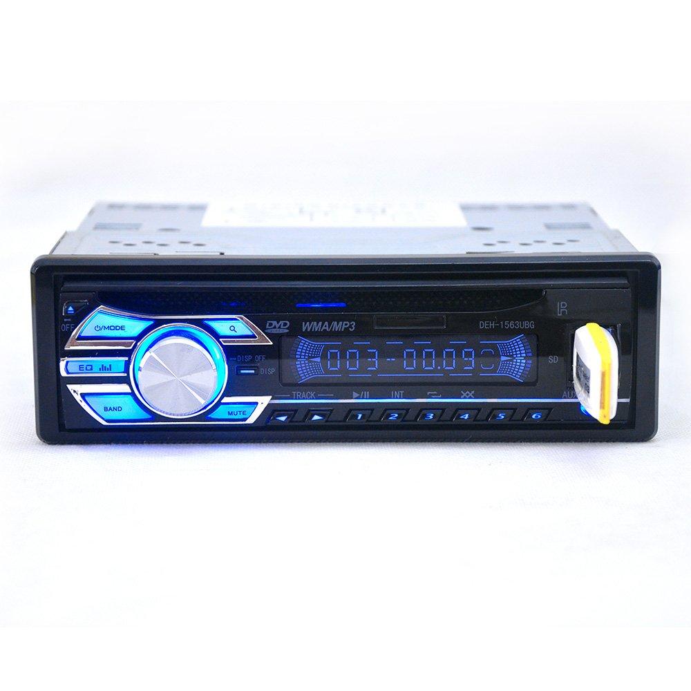 Alondy 1 Din 12v Car Stereo Headunit Cd Dvd Player Radio Mp3 Usb Pioneer Deh 425 Wiring Diagram Sd Aux Fm Electronics