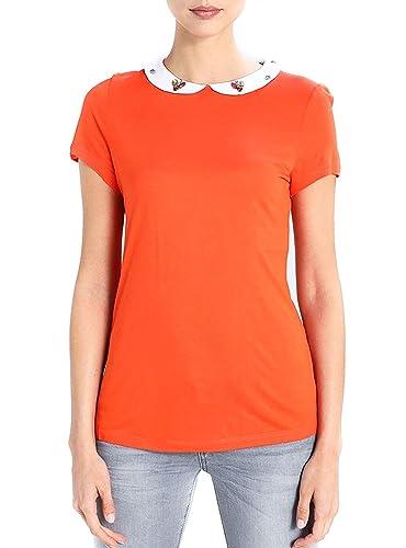 Naf Naf Camiseta Ojewel Naranja