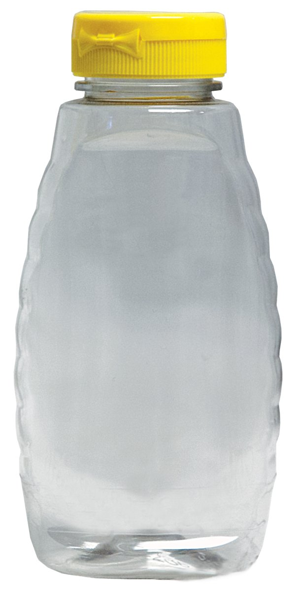 Mann Lake Clear Squeeze Bottle with Lid, 12-Ounce, 24-Pack