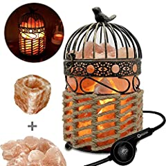 MaymiiHome unique salt lamps provide both tranquility and relaxation to any room, home, or office. It also provides a beautiful, unique home and furniture decor. When lit emits a soft amber glow, while the heated salt naturally ionizes the ai...