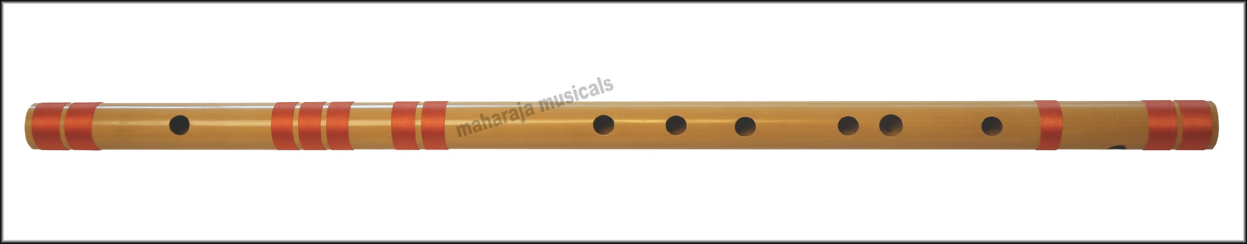 Indian Flute Bansuri, Scale F Sharp Bass 26.5 Inches, Maharaja Musicals, Includes Nylon Pipe Bag, Hindustani Bansuri, Concert Quality, Accurately Tuned, Bamboo Flute Indian (PDI-CGA)