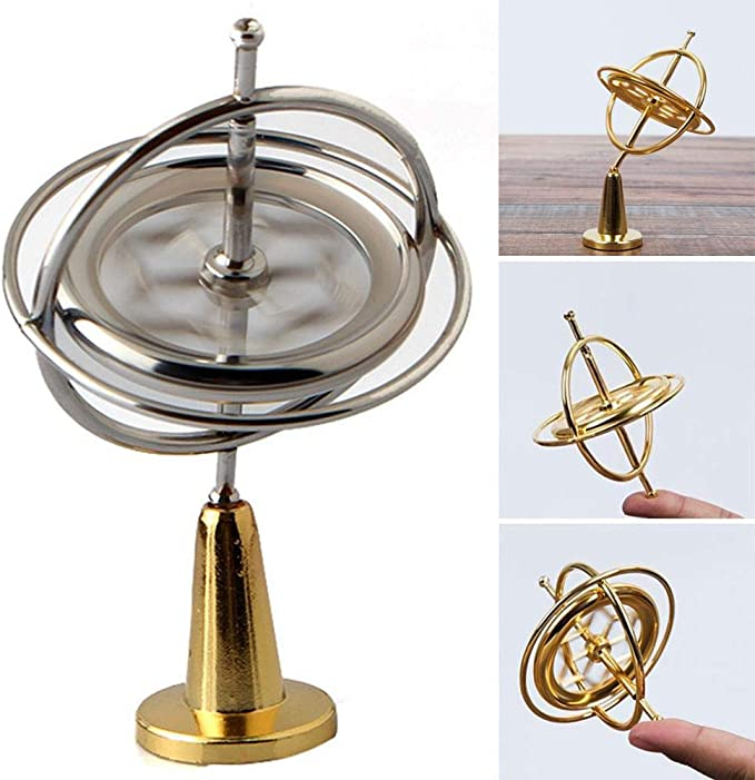 EUYOUZI Gyroscope Toy,Precision Gyroscope Metal Physical ...