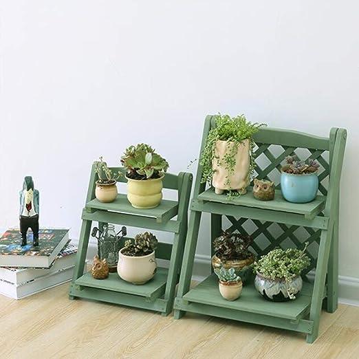YANG HOME- Estante de madera plegable del estante de la flor del ...