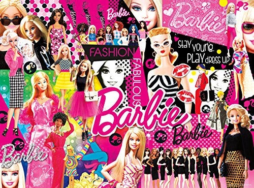 Barbie Poster - Buffalo Games - Collage Crazy -  Fashion Fabulous Barbie - 1000 Piece Jigsaw Puzzle
