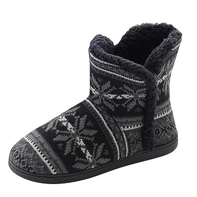 Botas Nieve Unisex mas Calientes Botines Planos de Invierno de Navidad Antideslizante Casuales Zapatos de Trabajo Calzado Outdoor al Aire Libre Fannyfuny