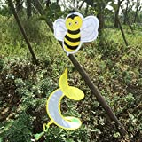 OTGO 1Pc Animal Spiral Windmill Colorful Wind Spinner for Your Lawn Yard Garden Party Decoration (Pattern:Bee)