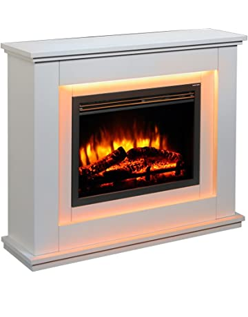 f66238fe27b Chimenea eléctrica Castleton Suite de vidrio frente a fuego eléctrico  220/240 Vac, 1