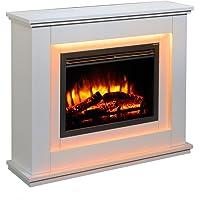Chimenea eléctrica Castleton Suite de Vidrio Frente a Fuego eléctrico 220/240 Vac, 1 &…