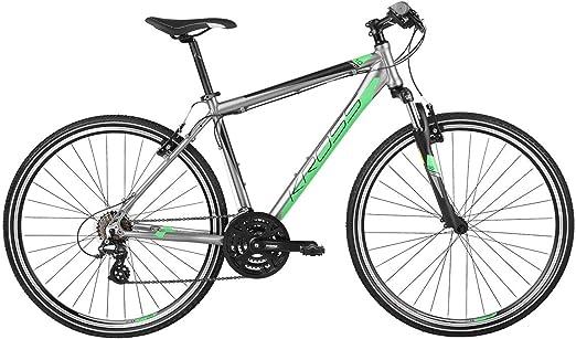 Kross Bicicleta ibdrida Aluminio Shimano evado 1.0 , Grafite/Verde, M: Amazon.es: Deportes y aire libre