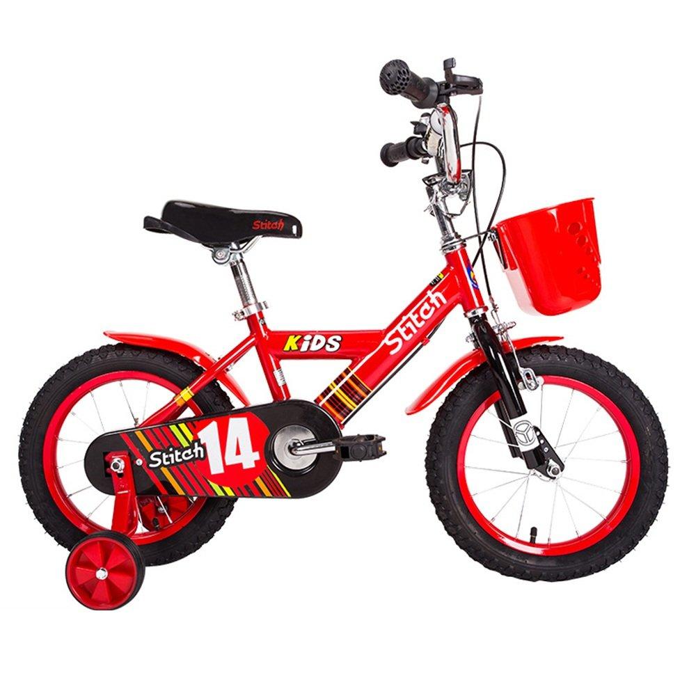 手数料無料 HAIZHEN マウンテンバイク 子供用自転車 トレーニングホイール付きの少年の自転車と少女の自転車 超定番 12インチ 14インチ 16インチ 16 新生児 B07CCK9VTJ 赤 子供用ギフト inches