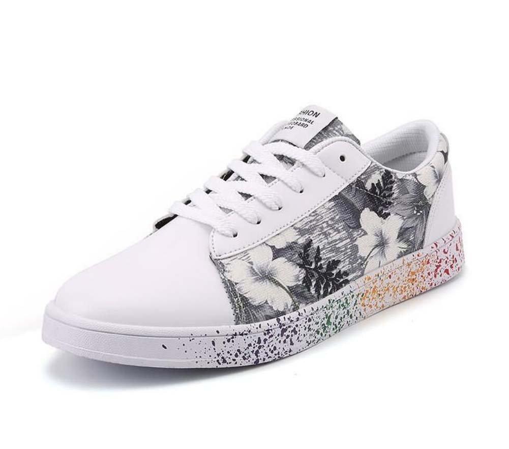 Unisex Bomba Placa Zapatos Pareja Casual Zapatos Colormatch Encajes hasta Impresión Slip En Snekers UE Tamaño 36-47,Gray,41EU 41EU|Gray