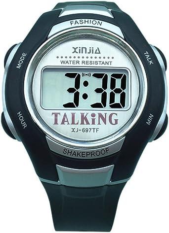 VISIONU - Reloj parlante digital con sonido en italiano, con despertador y regulación horaria, para niños e invidentes