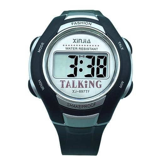 5 opinioni per Orologio Parlante Digitale con Sonoro in Italiano con Sveglia e Relazione oraria