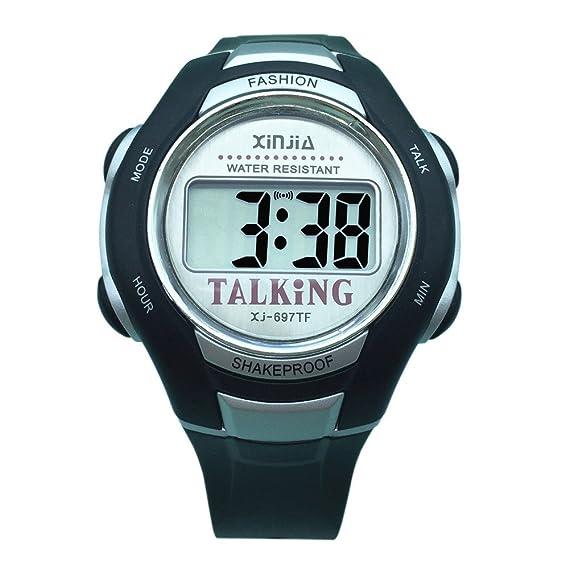 VISIONU - Reloj parlante digital con sonido en italiano, con despertador y regulación horaria, para niños e invidentes: Amazon.es: Relojes