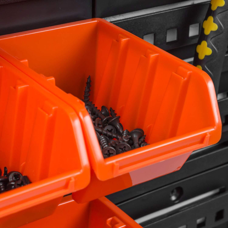 40 stck Stapelboxen Sch/üttenregal Sichtlagerk/ästen Lagersystem Wandregal 80 x 80 cm Box mit Deckel