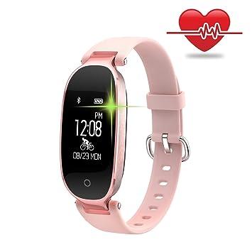 WOWGO Fitness Tracker, Mujer Sport Tracker Pulsera de Reloj Inteligente Banda pulsómetro, Smart Pulsera