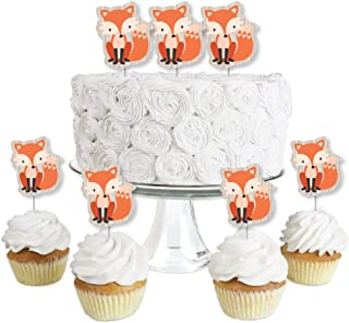 product image for Fox - Dessert Cupcake Toppers - Baby Shower or Birthday Party Clear Treat Picks - Set of 24
