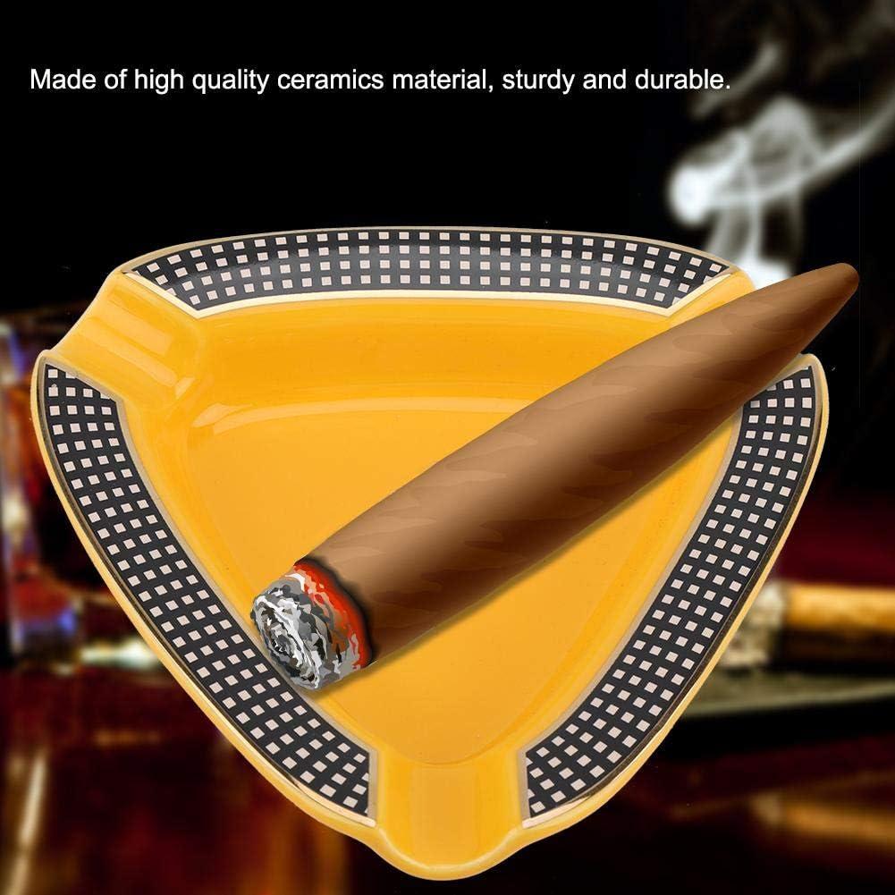 White Cigar Ashtray Portable Mini Ceramics Triangle Shape Travel Aluminium Alloy Metal Cigar Ashtray Cinder Holder