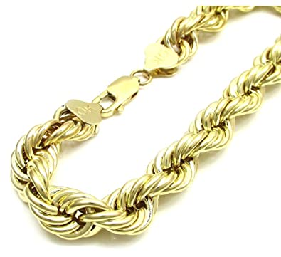 Amazon mens 10k yellow gold rope chain wrist bracelet size 7 mens 10k yellow gold rope chain wrist bracelet size 7quot 9quot 2 mm to sciox Gallery