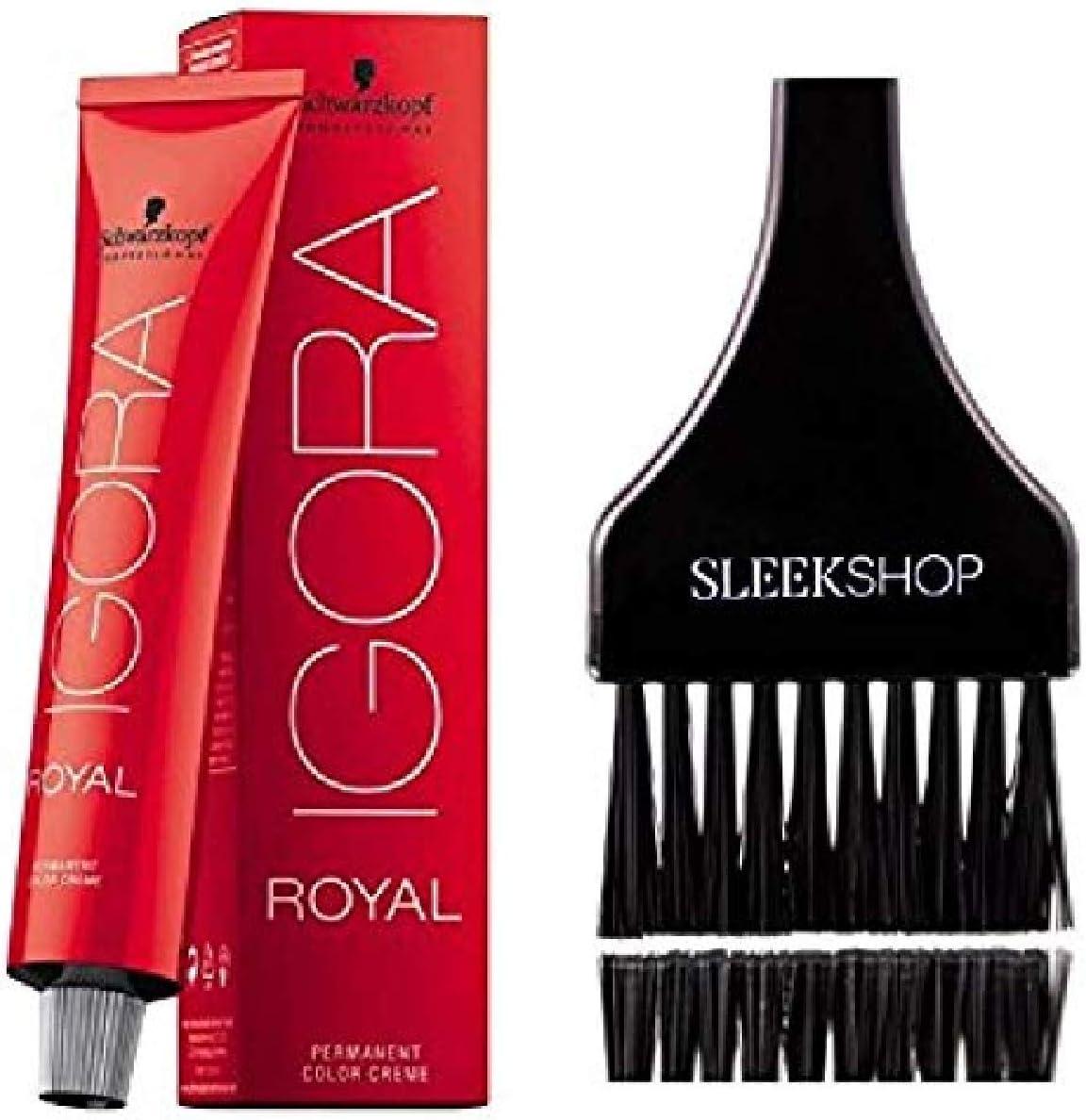 Schwarzkopf Schwarzkopf Professional Igora Royal Permanente Color de pelo (liso Con Tinte cepillo) (3-0 Café oscuro)