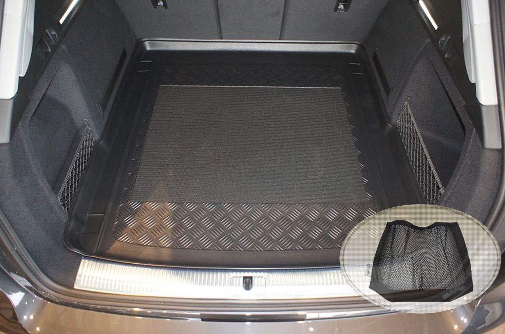 ZentimeX Z3026519 Antirutsch Kofferraumwanne fahrzeugspezifisch Laderaumwanne, Kofferraummatte Klett-Organizer