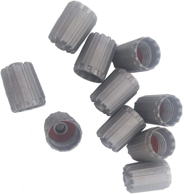 10 Kunststoff Grau Reifen Ventil Stem Kappen Für Auto Truck Auto