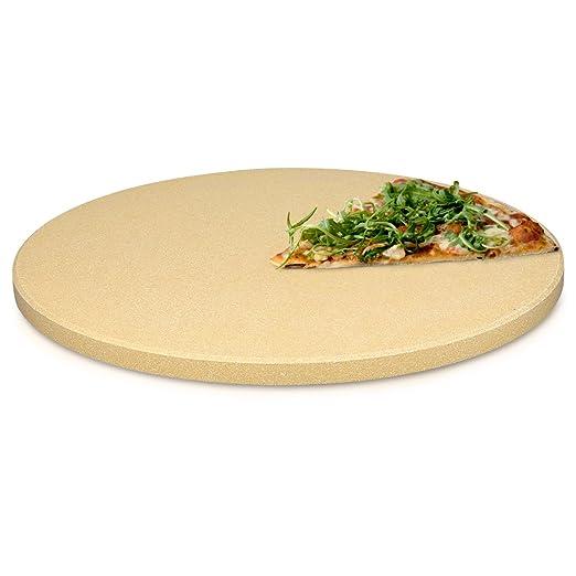Navaris Piedra para pizza de cordierita - Piedra para horno ...