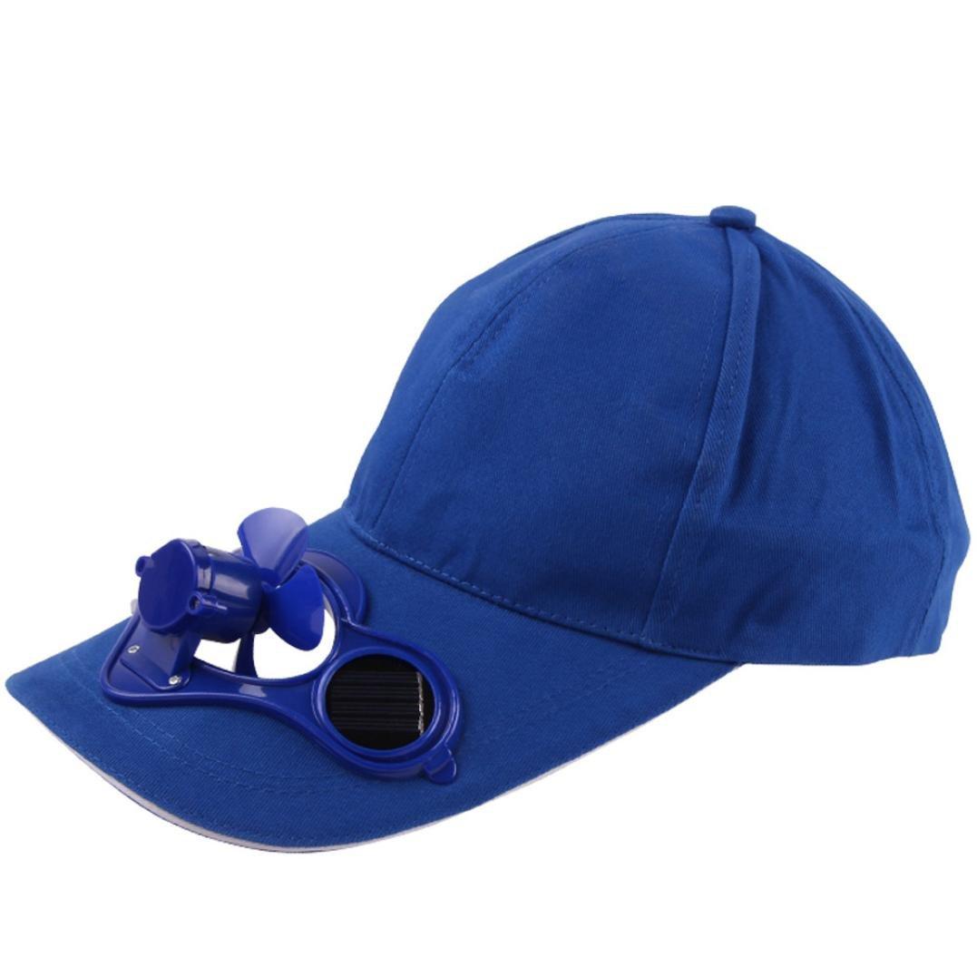 b7f8be0c2f5 Amazon.com  Solar Power Fan Baseball Hat Sun Cap Cooling Fan for Golf  Hiking Outdoor Sport (Black)  Clothing