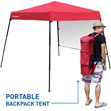 Portable Backpack Tent - 7u0027x7u0027 Base with 6u0027x6u0027 Awning Top  sc 1 st  Amazon.com & Amazon.com: Portable Backpack Tent - 7u0027x7u0027 Base with 6u0027x6u0027 Awning ...
