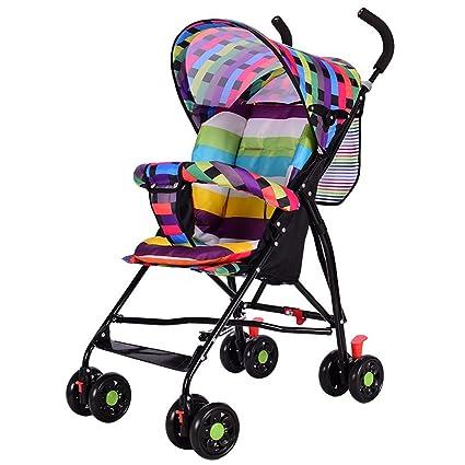 Cochecito ultraligero plegable, portátil, para bebé, verano ...