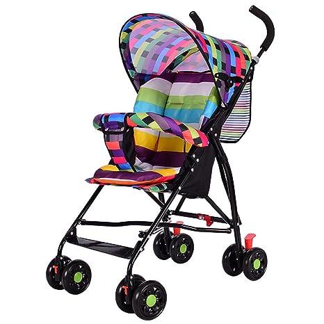Cochecito ultraligero plegable, portátil, para bebé, verano, parasol, cochecito de bebé