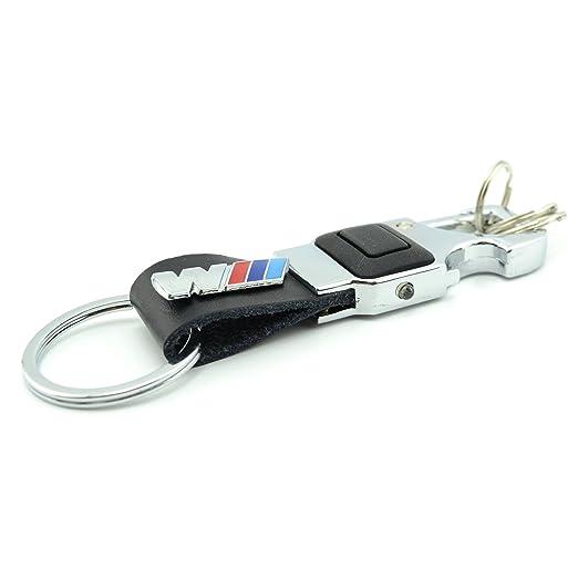 Amazon.com: inewcow BMW M Coche cromado Llavero con luz LED ...