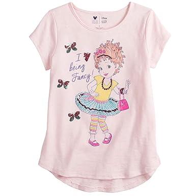 0353be4e Disney's Fancy Nancy Long-Sleeve Glittery Graphic Tee for Girls 4-10 (4