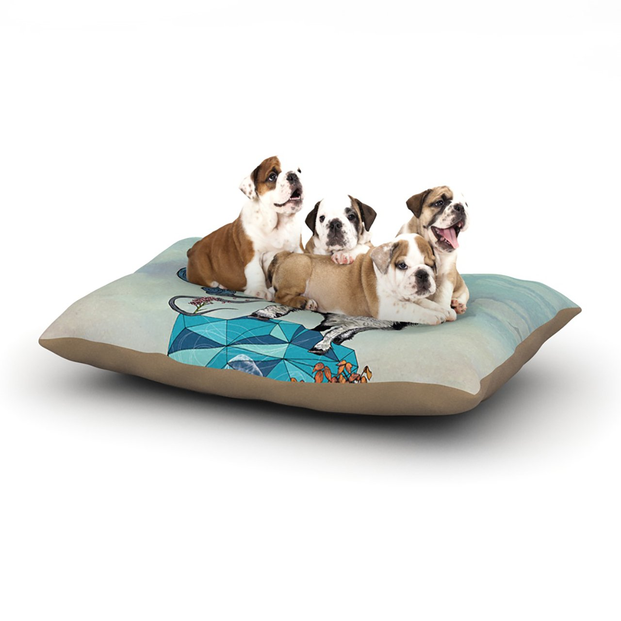Large 30\ Kess InHouse Mat Miller Seeking New Heights  bluee Goat Dog Bed, 30 by 40-Inch