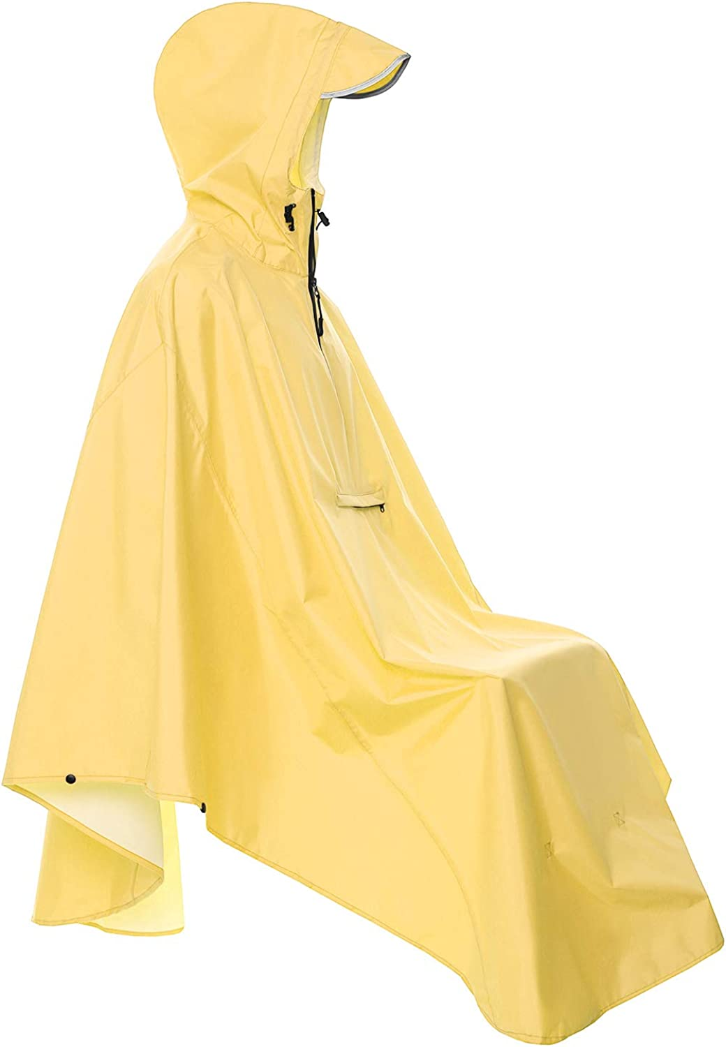 Resuable Bike Bicycle Camping Rain Capes with Reflective (Yellow): Clothing