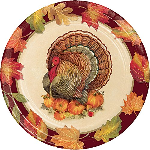 Creative Converting 324018 Party Creations Paper Plate, Turkey - Paper Turkey Plate