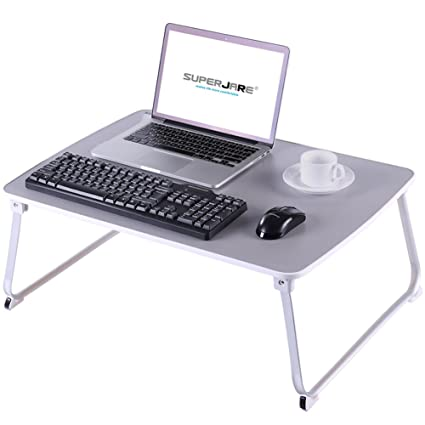 Amazon.com: SUPERJARE [EXTRA LARGE] Bed Table for Laptop, Drawing ...