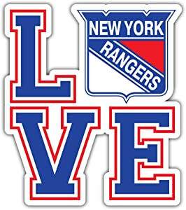 hotprint Rangers Hockey - New York Love Sport Car Bumper Sticker Decal 4'' X 5''