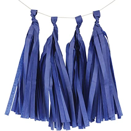 Amazon com: Just Artifacts Tissue Paper Tassel Garland Royal