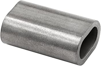 Aluminum Swage Sleeves for 3//8 Wire Rope Cable-10 Pack