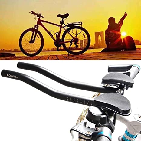 372698ef68b Image Unavailable. Image not available for. Color: Elever Road Mountain  Bike Bicycle Alloy Triathlon Aero Rest Handle Bar ...