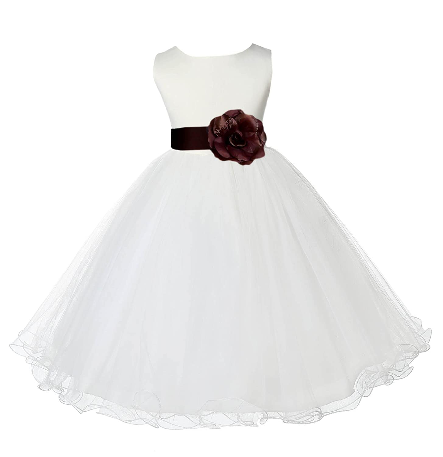 Amazon Ekidsbridal Wedding Pageant Ivory Flower Girl Rattail