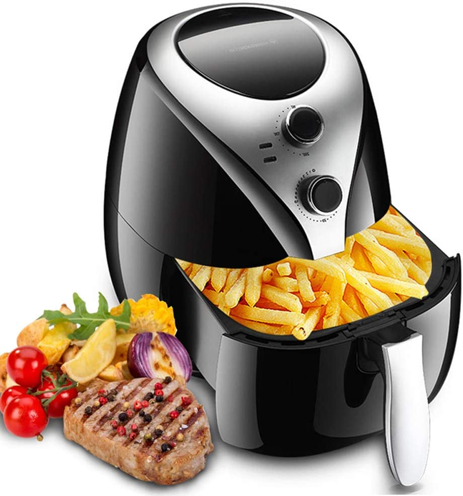 KIKBLW Fully Automatic Electric Fryer, 220V 1400W Electric Fryer 5L Air Fryer Household Intelligent No Oil Fumes High Capacity Electric Fryer