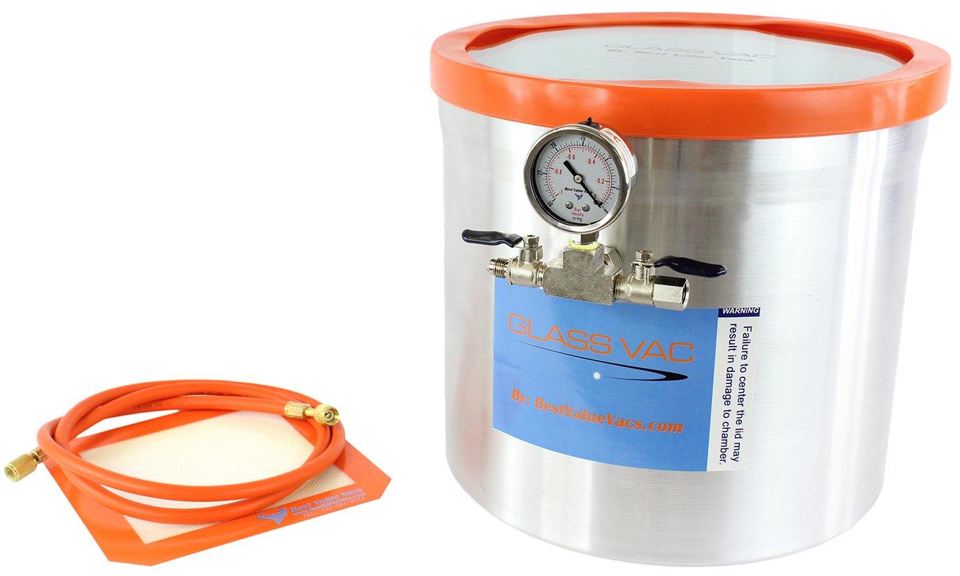 Best Value Vacs GV5GA Aluminum Vacuum Chamber, 5 gal