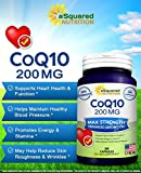 Pure CoQ10 200 Capsules High Potency 200mg - High Absorption CO Q-10 Enzyme Ubiquinone Supplement Pills Extra Antioxidant Coenzyme Q10 Vitamin Tablets COQ 10 for Healthy Blood Pressure amp Heart Discount