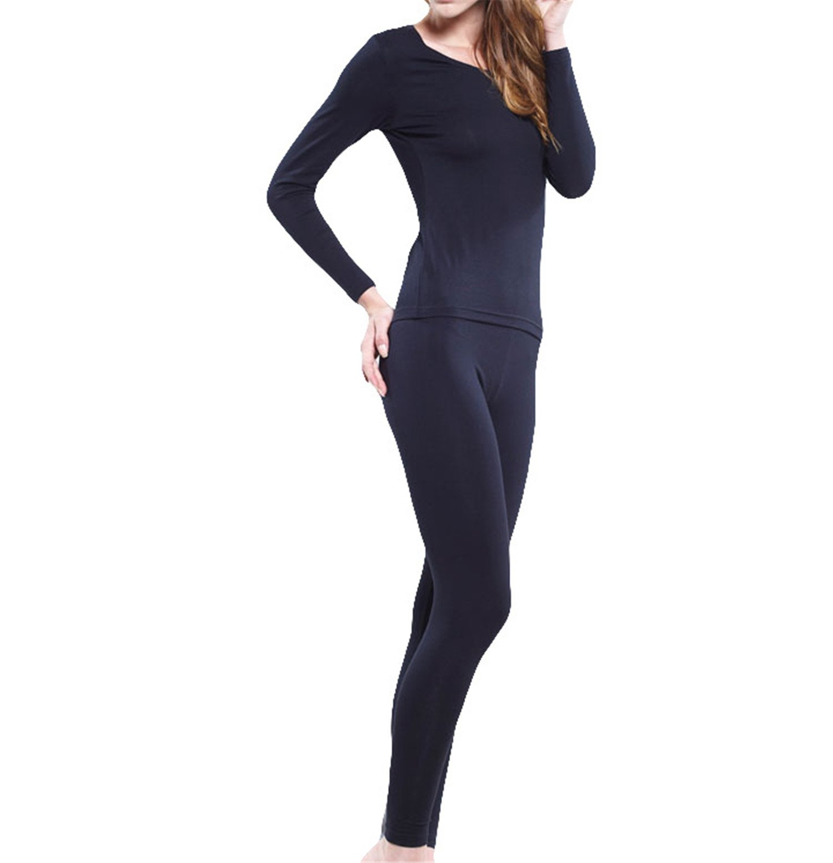 Dapengzhu NEW Spring and Autumn Thermal underwear for women high elastic long thin suits set plus size XL 3XL 4XL 5XL 6XL blue 5XL